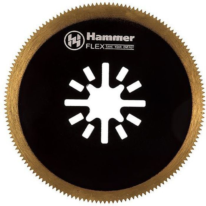 Полотно пильное для МФИ Hammer Flex 220-026 MF-AC 026, диск универсальный, 63,5 мм полотно для мфи hammer flex 220 023 mf ac 023 шлифпластина треугольная керамика 79 мм