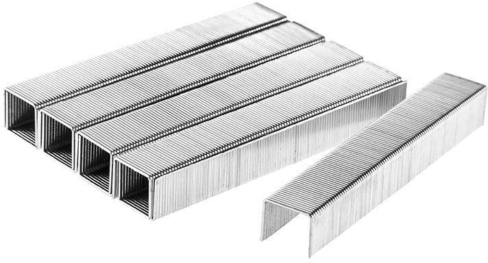 Скобы для строительного степлера Hammer Flex 215-014, закаленные, 10 мм, 1000 шт кисть для антисептиков hammer flex 237 014 70х14 дерев ручка