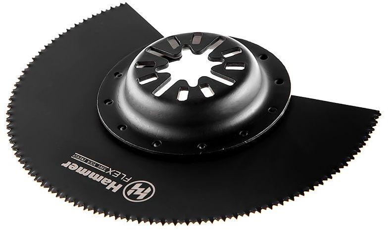 Полотно пильное для МФИ Hammer Flex 220-031 MF-AC 031, диск сегментный, выпуклый, дерево, 88 мм полотно для мфи hammer flex 220 023 mf ac 023 шлифпластина треугольная керамика 79 мм