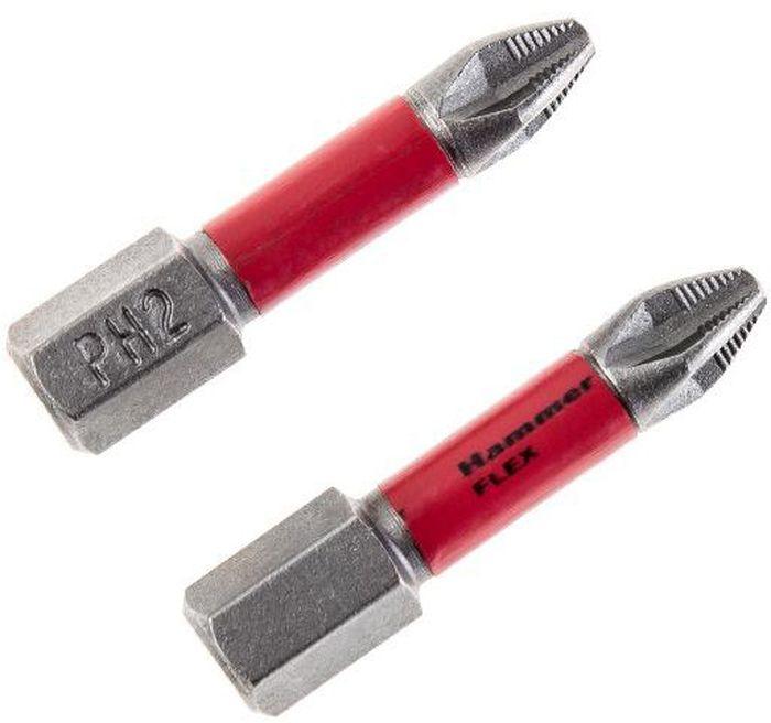 Бита торсионная Hammer Flex 203-150, PH-2, 30 мм, 2 шт бита hammer flex 203 139 pb sl 1 2 6 5 25мм tin 1шт