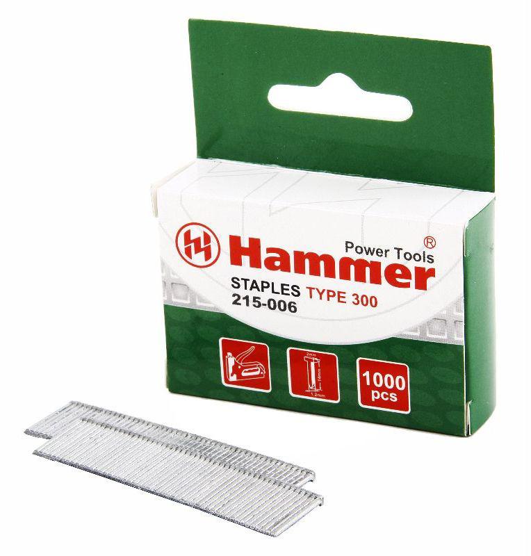 Гвозди для степлера Hammer Flex 215-006, 14 мм, сечение 1.2 мм, T-образные (тип 300), 1000 шт34002Скобы для степлера Hammer Flex 215-006, выполненные из, имеют сечение 1,2 мм. T-образные (тип 300). В комплекте 1000 шт. Рекомендуем!