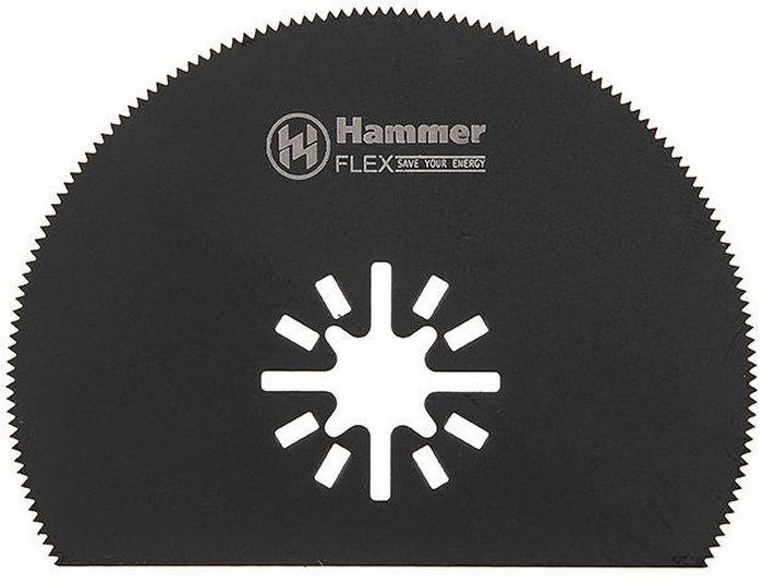 Полотно пильное для МФИ Hammer Flex 220-019 MF-AC 019, диск сегментный, 80 мм полотно для мфи hammer flex 220 023 mf ac 023 шлифпластина треугольная керамика 79 мм