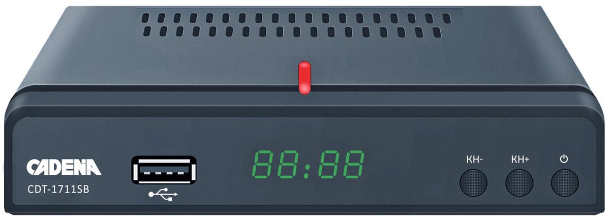 ТВ ресивер Cadena CDT-1711SB, Black аудио видео приемник immersion rc uno v1 2 4g filtered