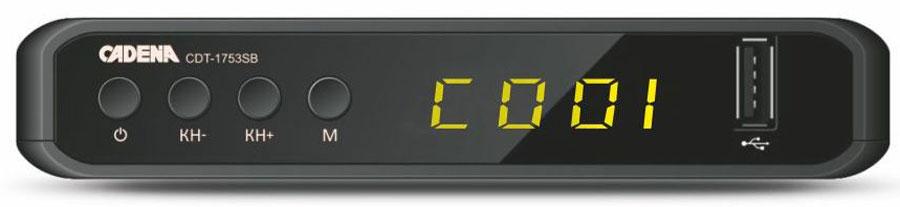ТВ ресивер Cadena CDT-1753SB, Black