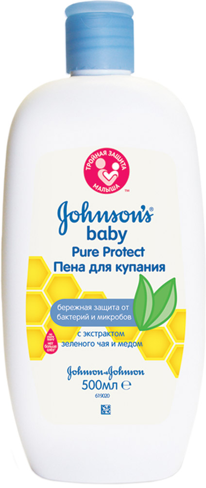 Johnson's baby Pure Protect Детская гель-пена для душа 300 мл