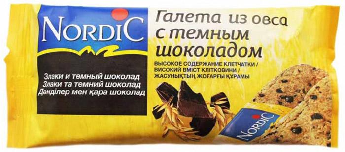 Nordic галета из овса с темным шоколадом, 30 г нордик галеты из овса с темным шоколадом 300г 10шт по 30г
