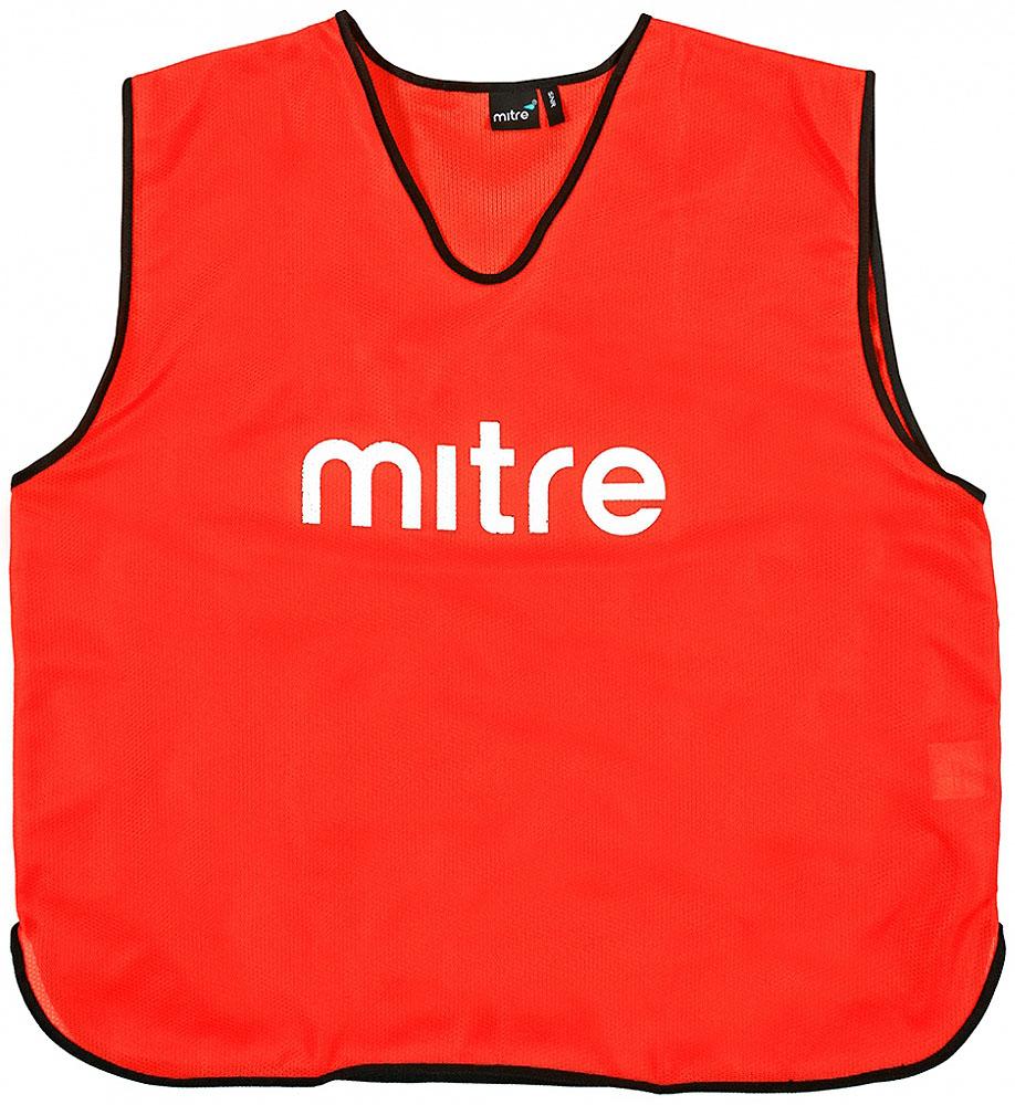 Накидка тренировочная Mitre, цвет: красный. Размер 122 mitre мяч футбольный mitre delta россия fifa approved