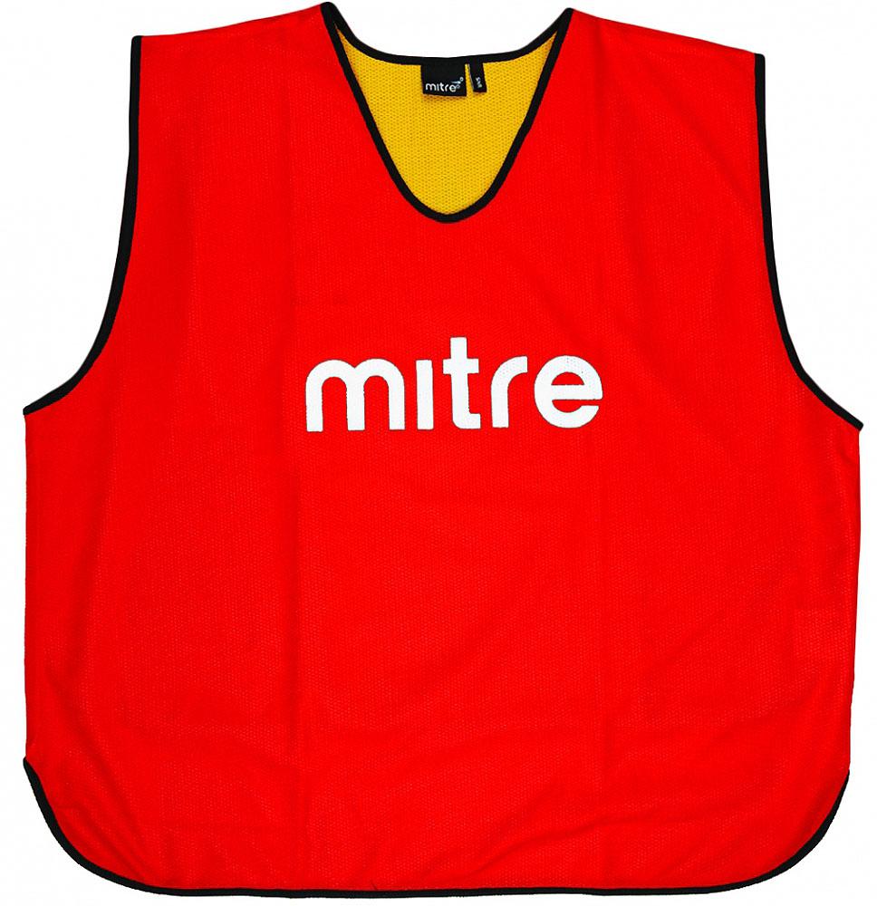 Накидка тренировочная двусторонняя Mitre, цвет: красный. Размер 122 mitre мяч футбольный mitre delta россия fifa approved