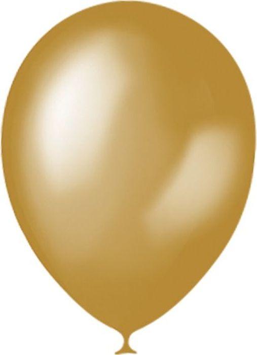 Latex Occidental Набор воздушных шариков Металлик цвет Gold 025 100 шт latex occidental набор воздушных шариков металлик и перламутр 50 шт