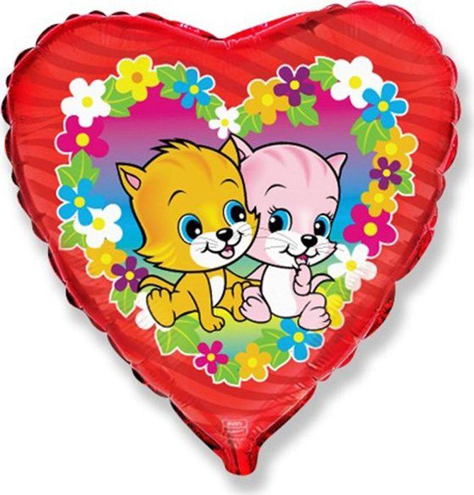 Флексметал Шарик воздушный Котята в цветах флексметал шарик воздушный малышка