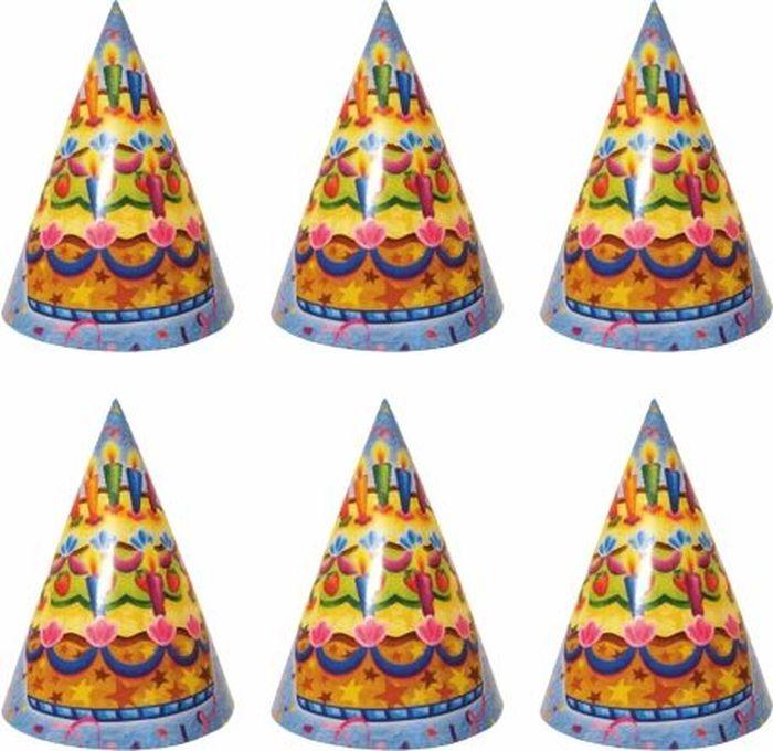 Пати Бум Колпак Праздничный торт 6 шт веселый праздник набор колпаков лунтик 6 шт