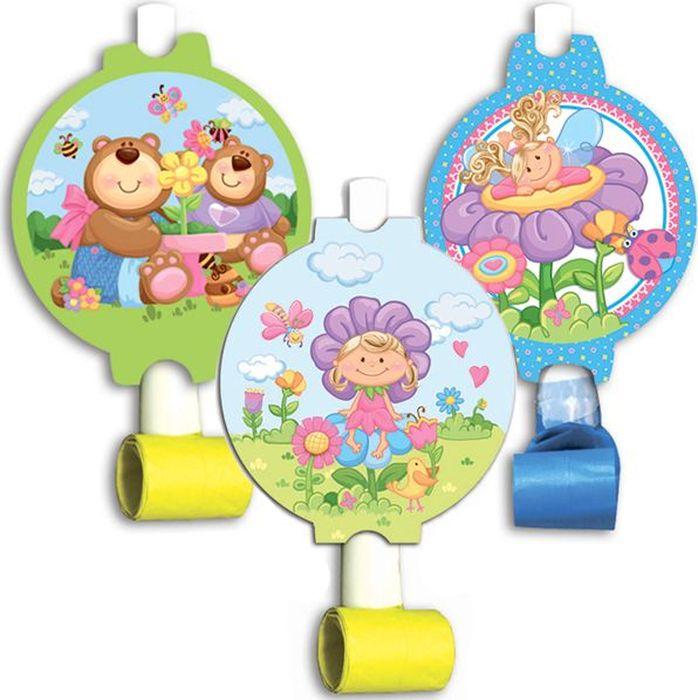 Пати Бум Язык-гудок с карточкой Детская коллекция 6 шт цены