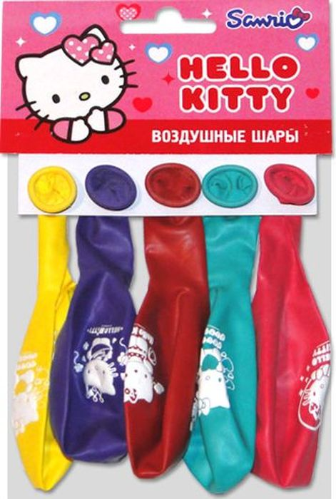 Latex Occidental Набор воздушных шариков Пастель Декоратор Hello Kitty 5 шт
