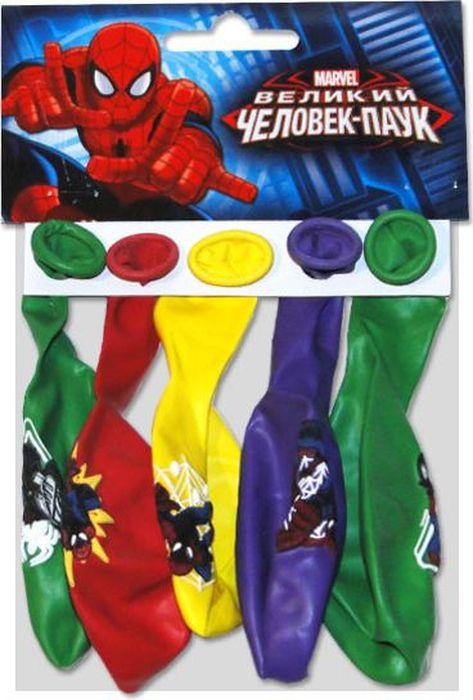 Шарик воздушный Пастель Декоратор Марвел Человек-Паук с хедером 5 шт 1toyпингвинёнок пороро наб инструм 9 шт пак с хедером