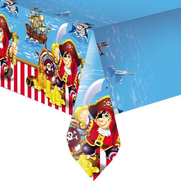 Пати Бум Скатерть Веселый Пират 140 х 180 см пати бум набор трубочек веселый пират цвет синий 6 шт