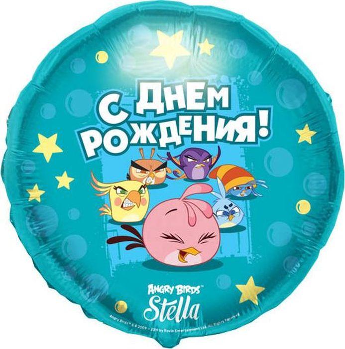 Конвер Шарик воздушный С Днем Рождения Angry Birds Stella цвет голубой конвер шарик воздушный с днем рождения принцесса