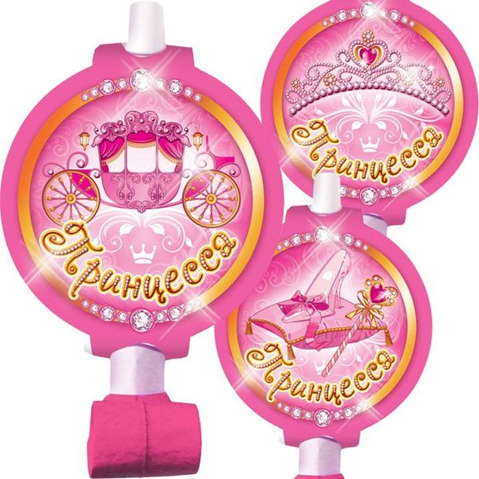 Пати Бум Язык-гудок с карточкой Моя Принцесса 6 шт цены