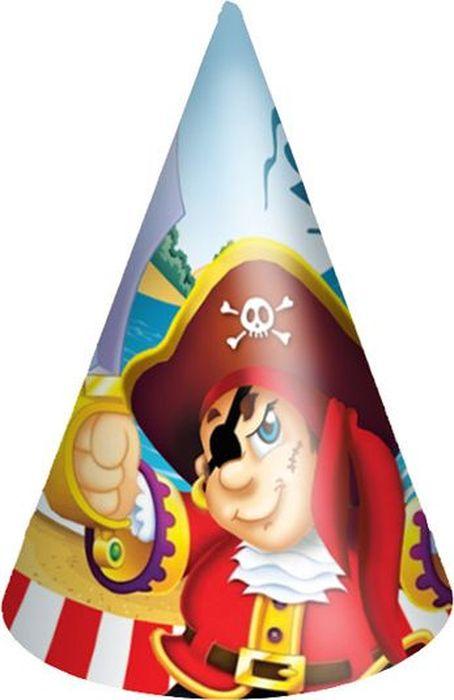 Пати Бум Колпак Веселый Пират 6 шт веселый праздник набор колпаков лунтик 6 шт