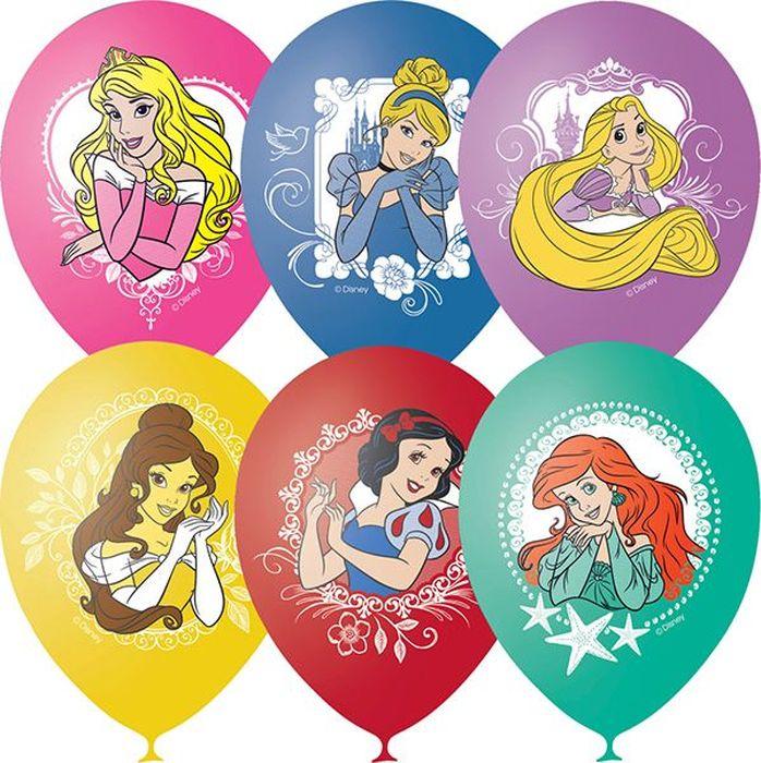 Шарик воздушный Пастель Декоратор Дисней Принцессы 25 шт