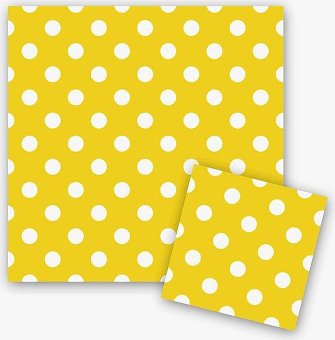 Пати Бум Салфетки Горошек цвет желтый 12 шт пати бум столовые приборы цвет синий 18 шт