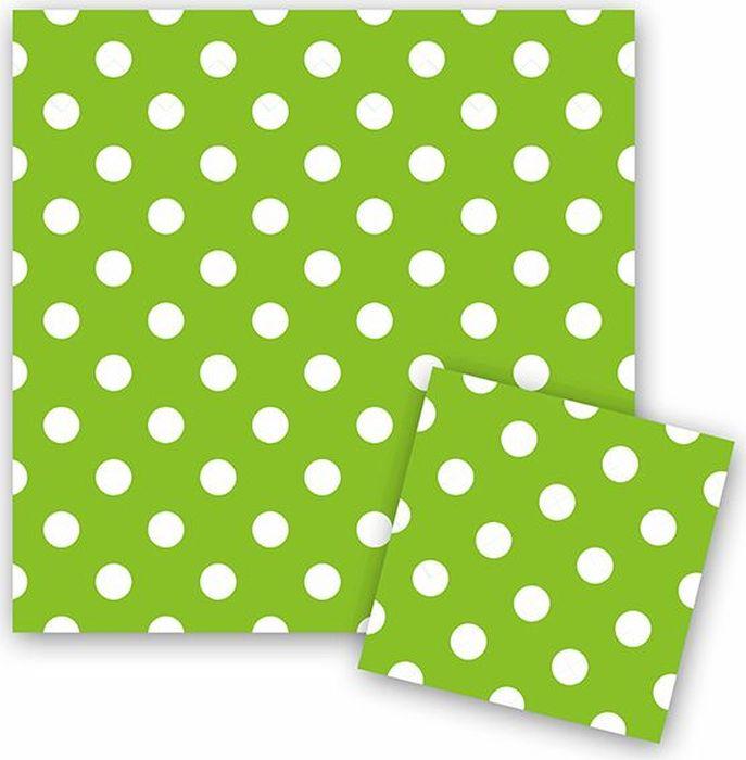 Пати Бум Салфетки Горошек цвет зеленый 12 шт пати бум столовые приборы цвет синий 18 шт