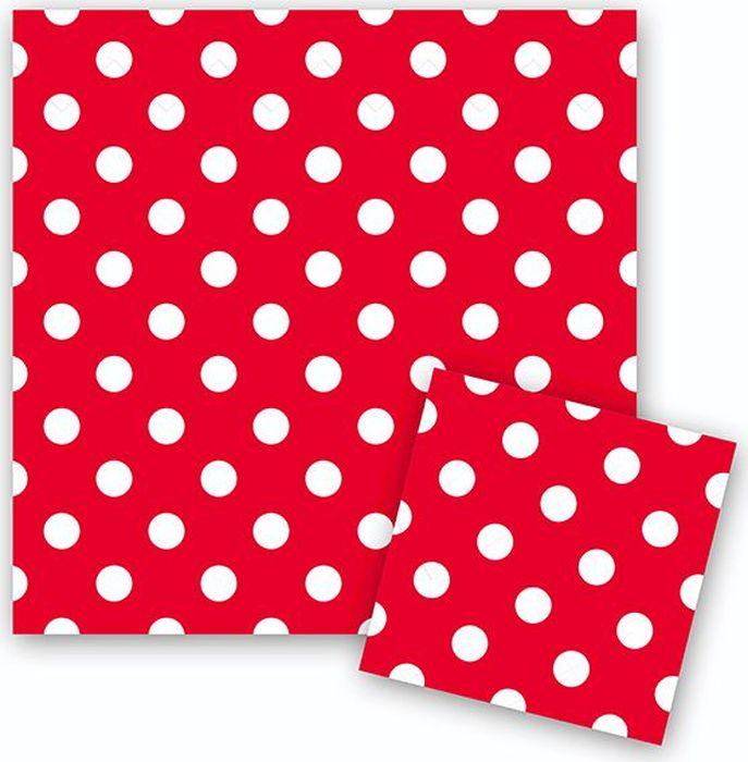 Пати Бум Салфетки Горошек цвет красный 12 шт пати бум столовые приборы цвет синий 18 шт