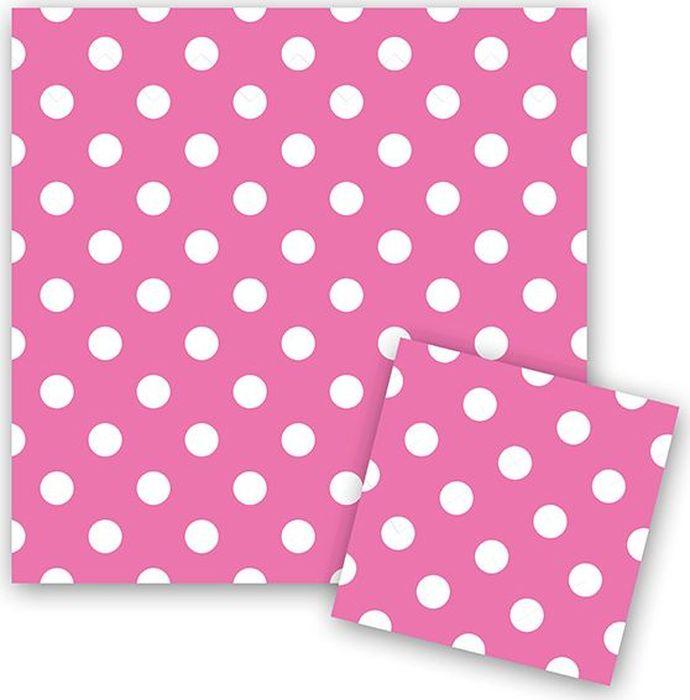 Пати Бум Салфетки Горошек цвет розовый 12 шт пати бум столовые приборы цвет синий 18 шт