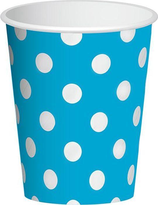 Пати Бум Набор стаканов Горошек цвет голубой 250 мл 6 шт6046477Стаканы Горошек подойдут для организации детской вечеринки, дня рождения и других праздников. В наборе 6 стаканов объемов 250 мл, выполненных из бумаги. Стаканы оформлены принтом в горох. Такие стаканы станут отличным дополнением праздничного настроения.