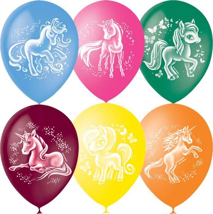 шарики bony 50 шаров Шарик воздушный Пастель Декоратор Волшебные лошадки 50 шт