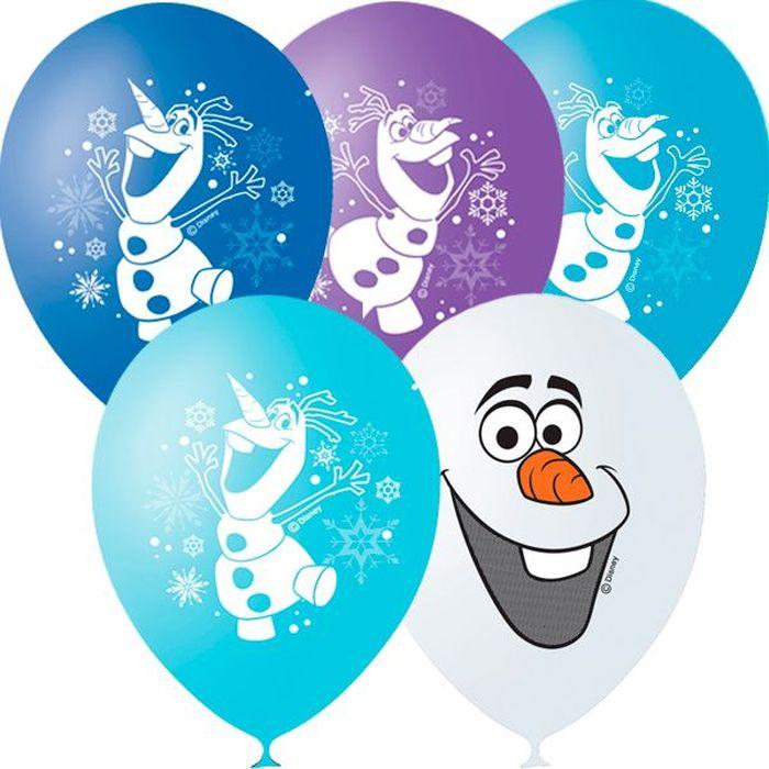Шарик воздушный Пастель Декоратор Дисней Снеговик Олаф 25 шт шарик воздушный декоратор transparent 057 100 шт