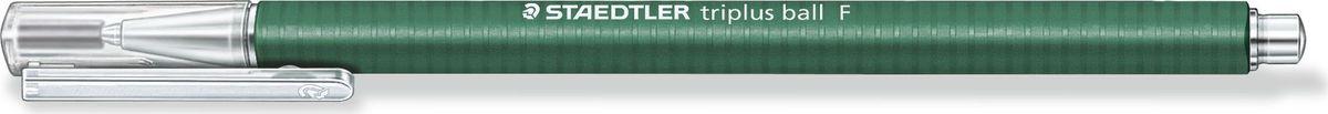 Staedtler Ручка шариковая Triplus Ball 0,3 мм цвет чернил зеленый шариковая ручка triplus ball черная 0 3 f