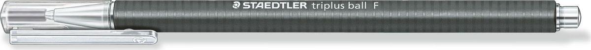 Staedtler Ручка шариковая Triplus Ball 0,3 мм цвет чернил черный шариковая ручка triplus ball черная 0 3 f