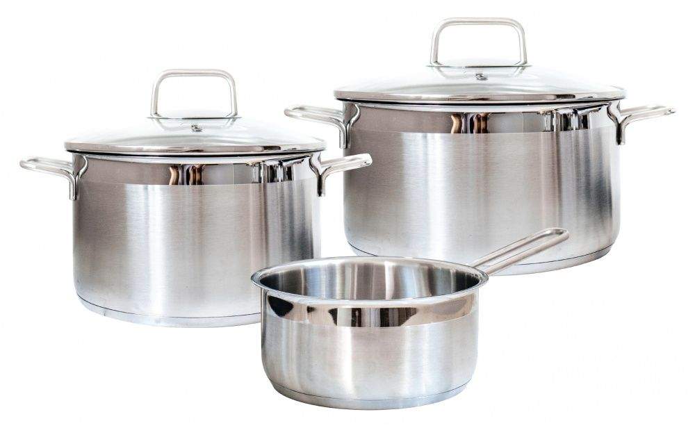 Набор посуды для приготовления Swiss Diamond SD PS SET L3, Нержавеющая сталь
