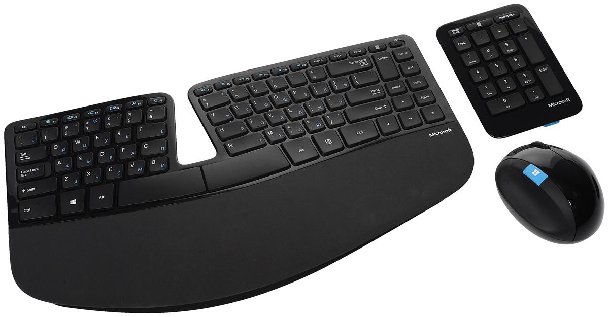Комплект мышь + клавиатура Microsoft Sculpt ErgonomicDesktop, Black USB цены онлайн