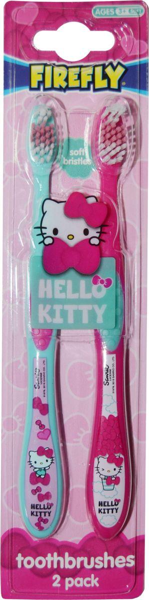 Hello Kitty Набор детских зубных щеток с резиновой вставкой 2 шт детская одежда и аксессуары с hello kitty
