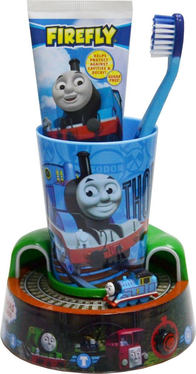 Thomas & Friends Детская зубная щетка и зубная паста на подставке-игрушке с таймером элмекс зубная паста юниор 6 12 лет 75 мл