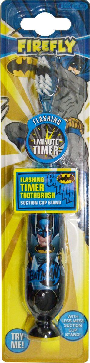 Batman Детская зубная щетка с таймером-подсветкой на резиновой присоске