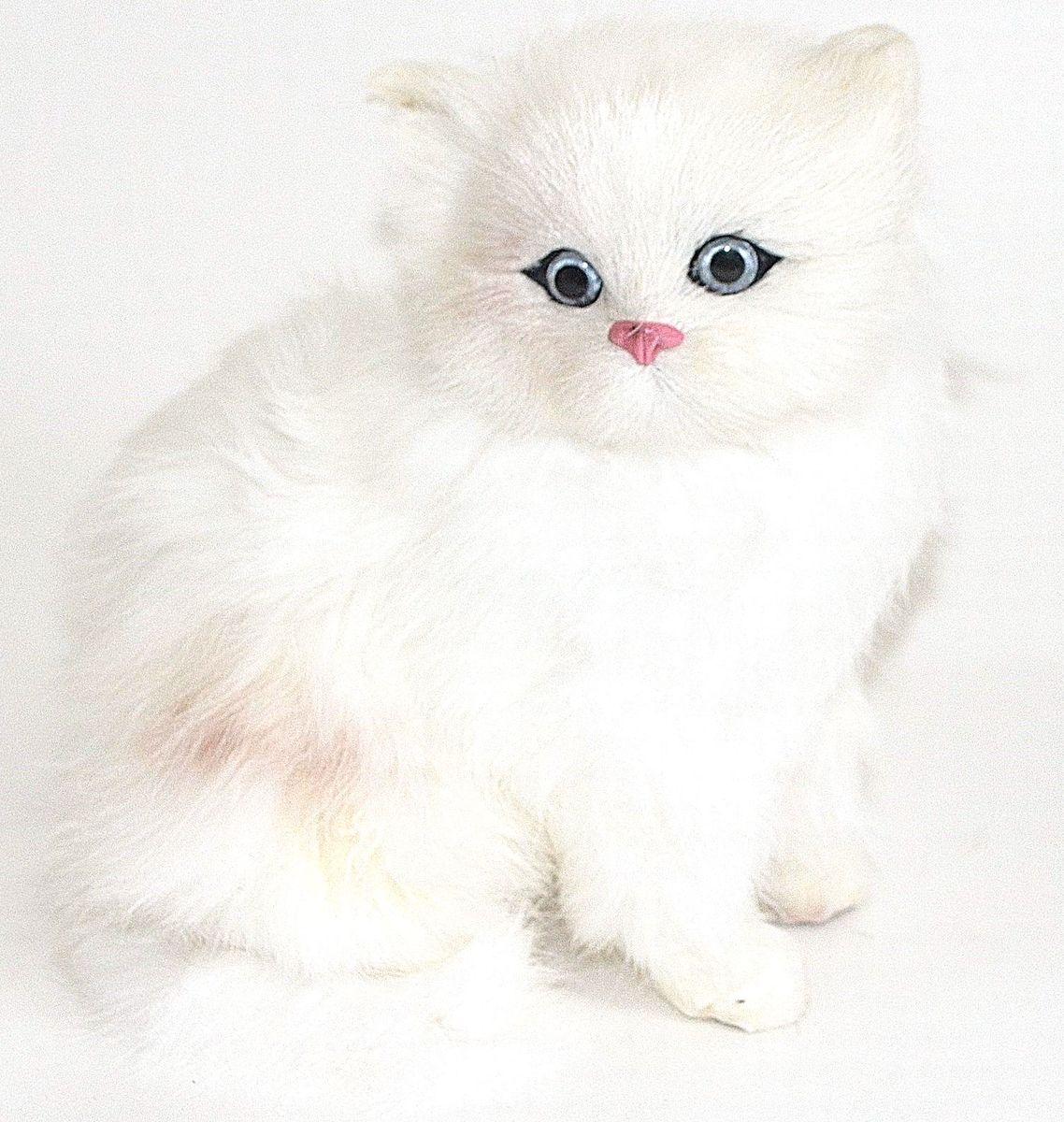 Фото - Vebtoy Фигурка Котенок сидящий цвет белый C226 vebtoy фигурка спящий котенок на коврике со звуком мяу цвет черно белый