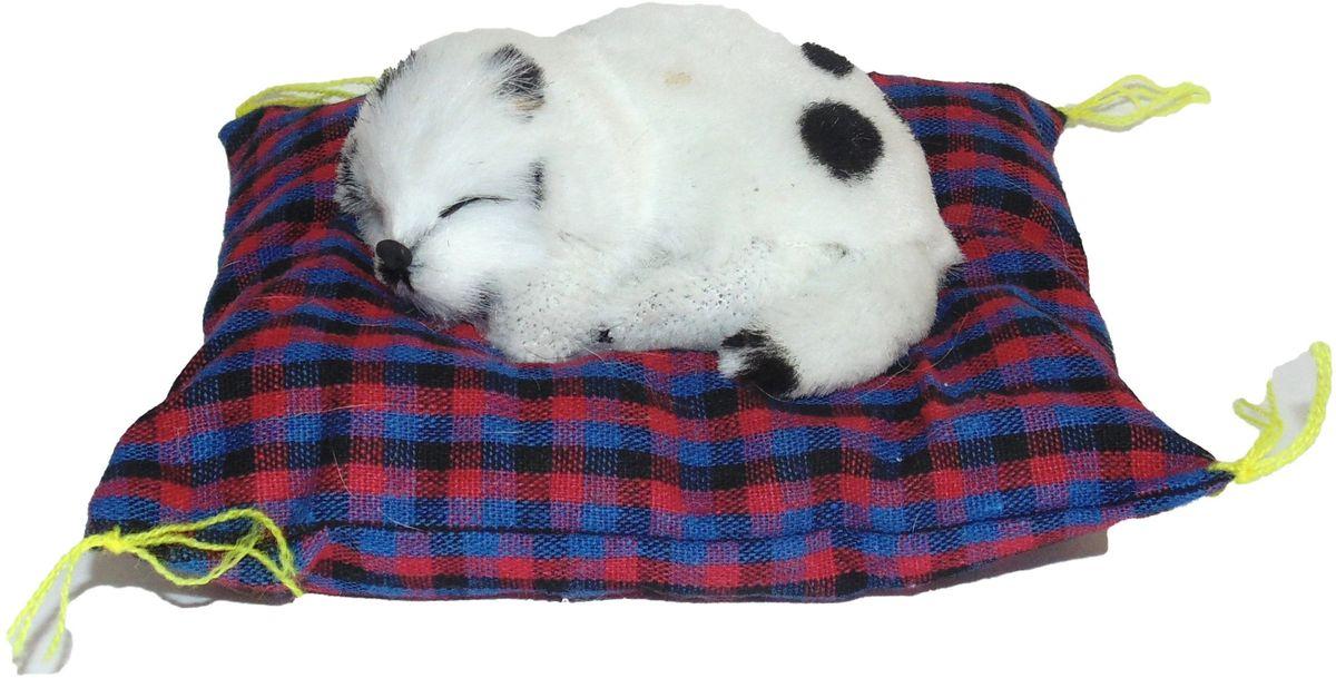 Фото - Vebtoy Фигурка Долматинец на коврике со звуком Гав цвет белый vebtoy фигурка спящий котенок на коврике со звуком мяу цвет черно белый