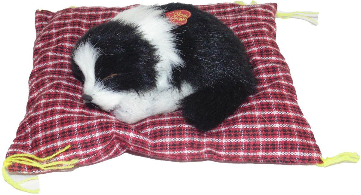 Фото - Vebtoy Фигурка Норвежская колли на коврике со звуком Гав цвет черный D523 vebtoy фигурка спящий котенок на коврике со звуком мяу цвет черно белый