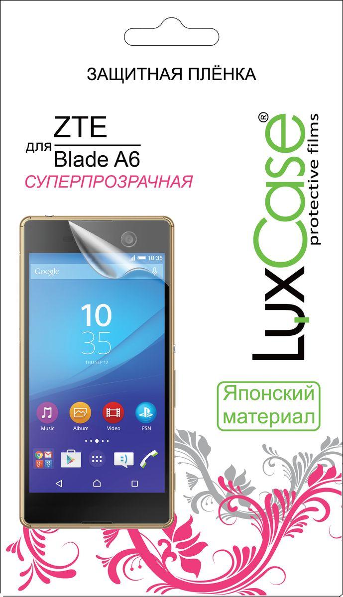 LuxCase защитная пленка для ZTE Blade A6, суперпрозрачная цена и фото