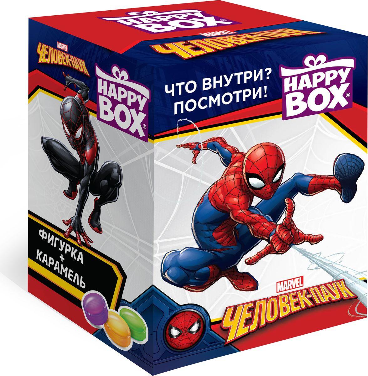 Сладкая Сказка Happy Box Человек-паук карамель с игрушкой, 18 г леденцы с игрушкой happy box три кота 18 г