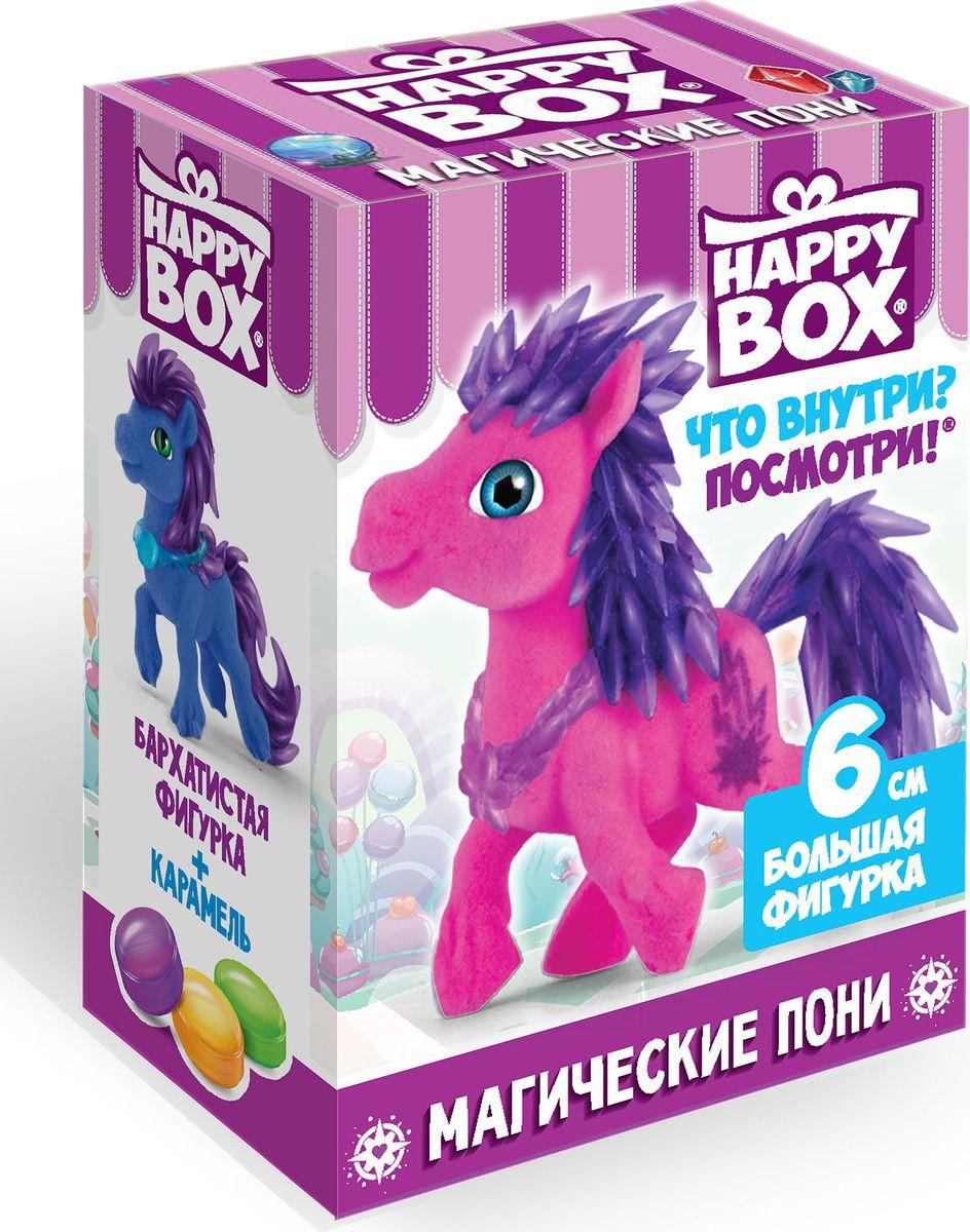 Сладкая Сказка Happy Box Магические пони карамель с игрушкой, 18 г сладкая сказка снегурочка синий подарочный шар карамель магнит 18 г