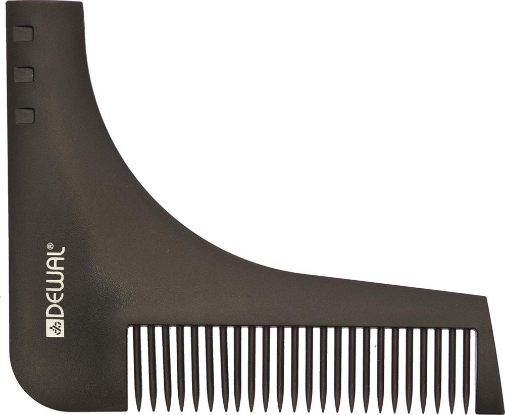 Dewal Расческа для бороды, цвет: черный, 9,5 см х 11 см