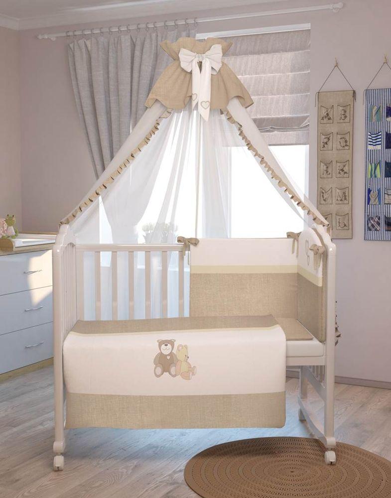 Polini Комплект белья для новорожденных Плюшевые мишки цвет бежевый 7 предметов polini комплект белья для новорожденных монстрики 7 предметов 1216