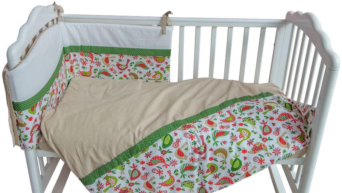 Polini Комплект белья для новорожденных Кантри цвет зеленый 3 предмета polini комплект белья для новорожденных монстрики 7 предметов 1216
