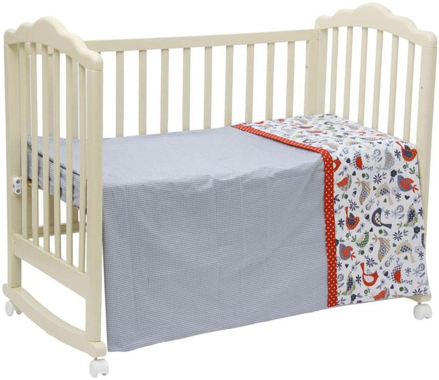 Polini Комплект белья для новорожденных Кантри цвет красный 3 предмета polini комплект белья для новорожденных монстрики 7 предметов 1216