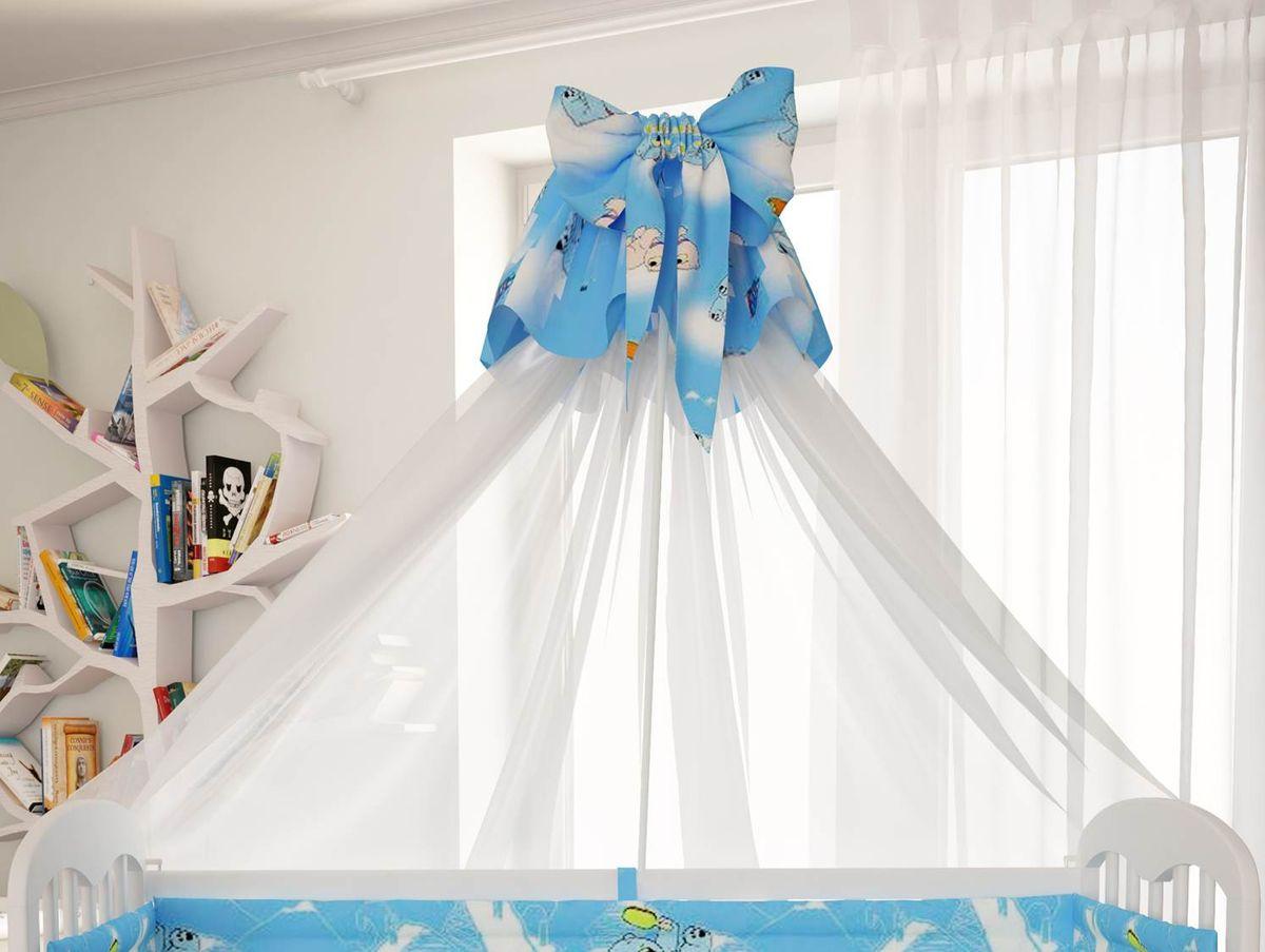 цена Polini Балдахин в кроватку Мишки цвет голубой онлайн в 2017 году