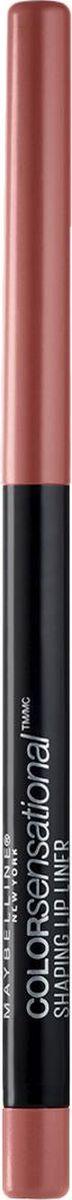 Maybelline New York Карандаш для губ Color Sensational, оттенок 20, Нюдовое Искушение maybelline карандаш для губ механический color sensational 8 оттенков оттенок 110 насыщенно винный