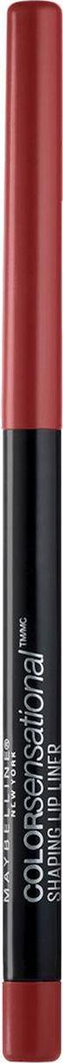 Maybelline New York Карандаш для губ Color Sensational, оттенок 90, Кирпично-красный maybelline карандаш для губ механический color sensational 8 оттенков оттенок 110 насыщенно винный